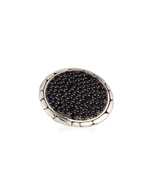 John Hardy - Kali Pure Lava Black Sapphire Ring - Lyst