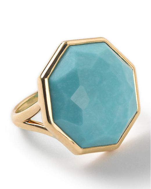 Ippolita | Blue 18k Rock Candy Octagonal Ring In Turquoise | Lyst