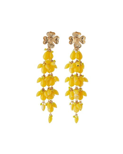 Lydell Nyc Linear Crystal Drop Earrings