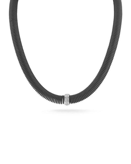 Alor Kai Coil Cable Necklace W Pave Diamonds Black Lyst