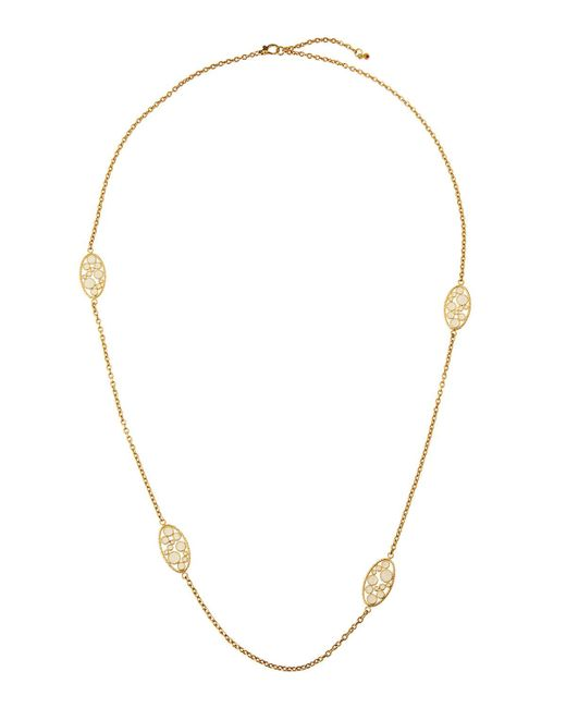 Roberto Coin - Bollicine 18k Yellow Gold Long Enameled 2-station Necklace - Lyst