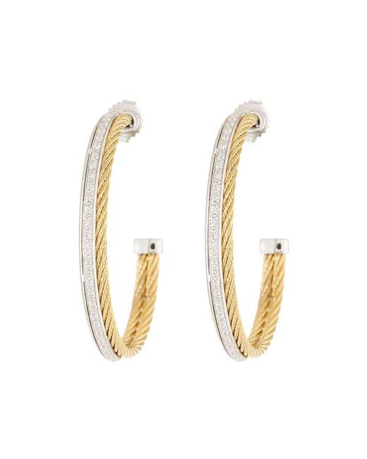 Alor - Metallic Classique Diamond Hoop Earrings Yellow - Lyst