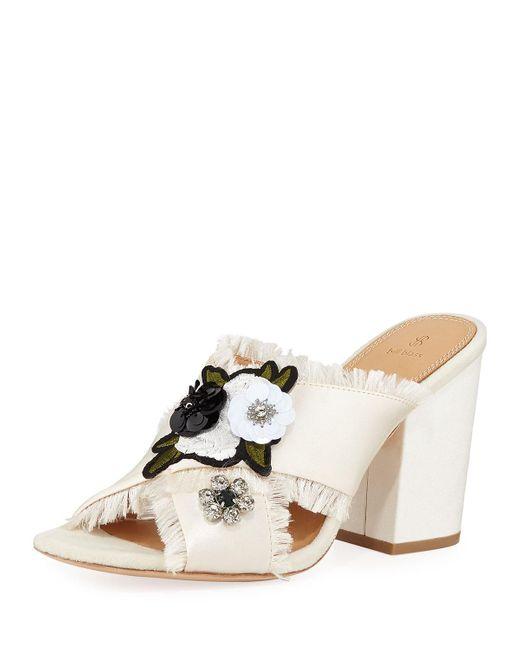 Bill Blass Multicolor Carol Satin Embellished Sandal
