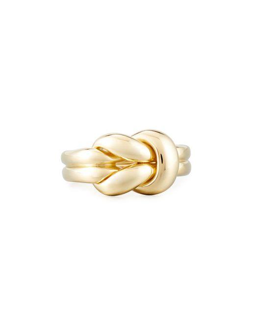 Roberto Coin - Metallic 18k Gold Knot Ring - Lyst