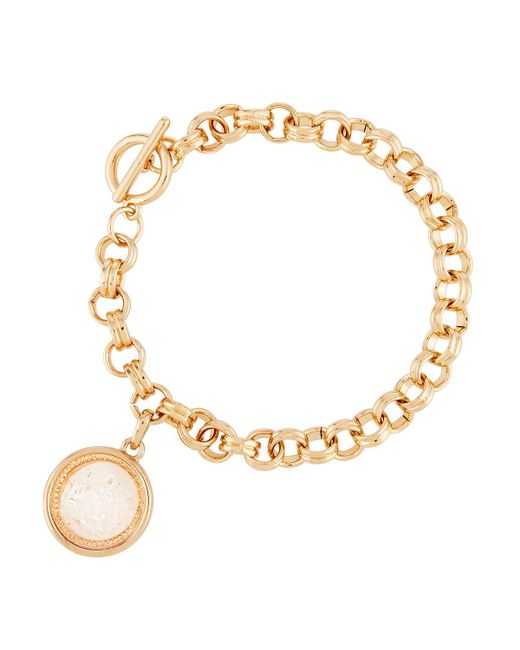 Lydell NYC | Metallic Clear Round Shaker Bracelet | Lyst