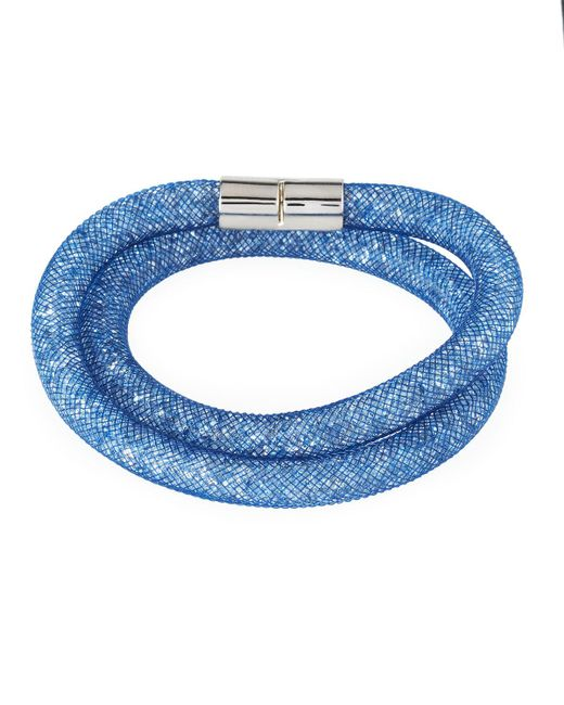 Swarovski | Blue Stardust Convertible Crystal Mesh Bracelet/choker | Lyst