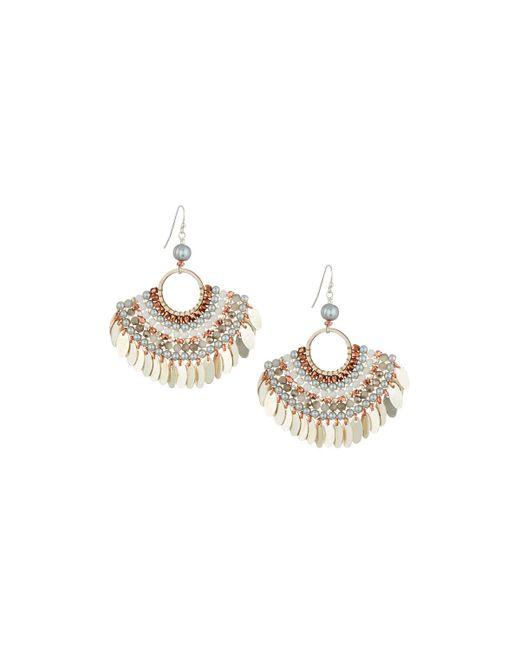 Nakamol - Metallic Bead Layered Half-circle Earrings - Lyst