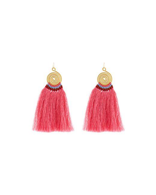 Nakamol - Pink Swirl Drop Earrings W/ Fringe - Lyst