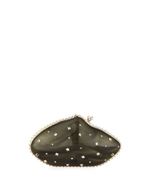 Valentino - Multicolor Rockstud Plexiglas Minaudiere Clutch Bag - Lyst