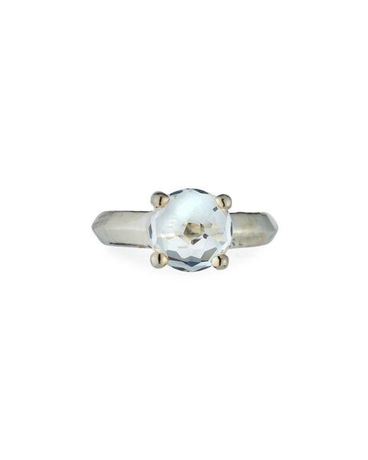 Ippolita Metallic Wonderland Silver Knife-edge Ring In Clear Quartz Size 7