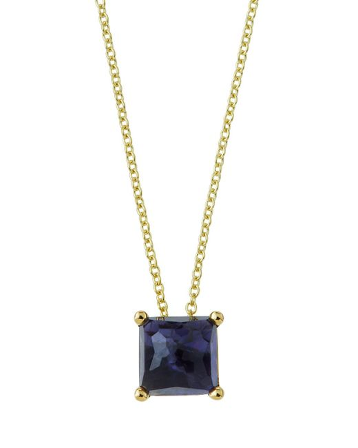 Ippolita - Purple 18k Gold Rock Candy Mini Single Square Sliding Pendant Necklace In Iolite - Lyst