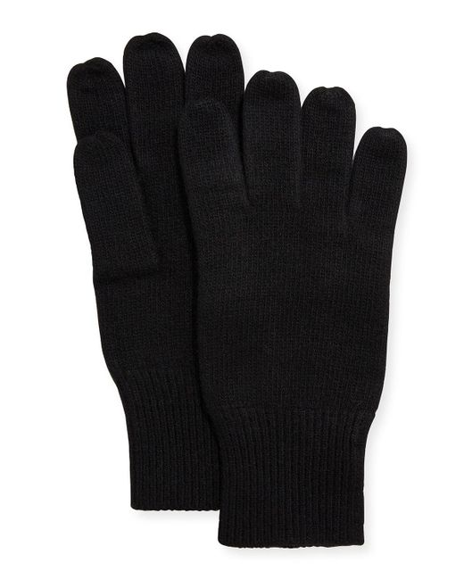 Portolano - Black Men's Cashmere Jersey Gloves for Men - Lyst