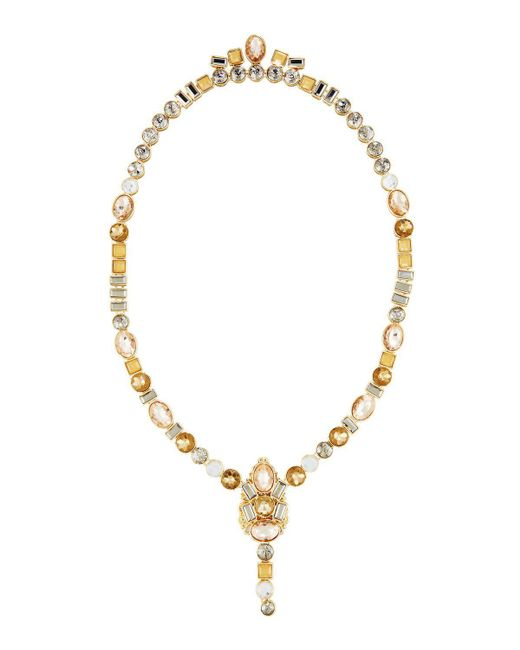Lydell NYC   Metallic Multicolor Front To Back Necklace   Lyst