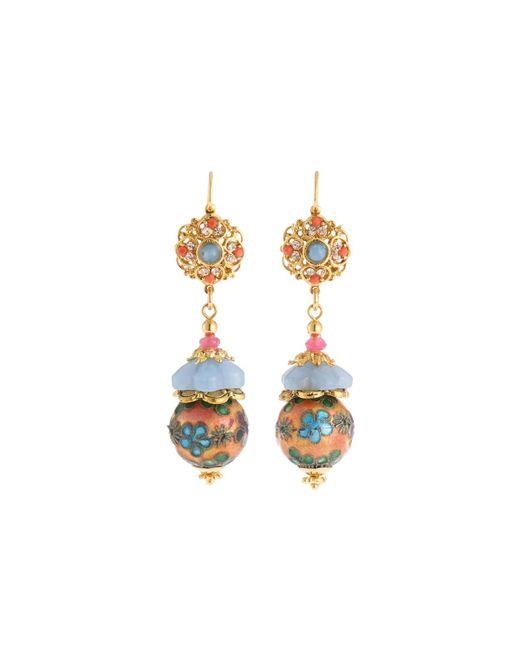 Jose & Maria Barrera - Multicolor Mixed Pastel Bead Drop Earrings - Lyst