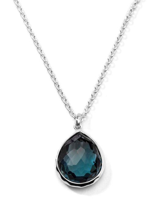 Ippolita - Wonderland Silver Mini Teardrop Necklace In London Blue Topaz - Lyst