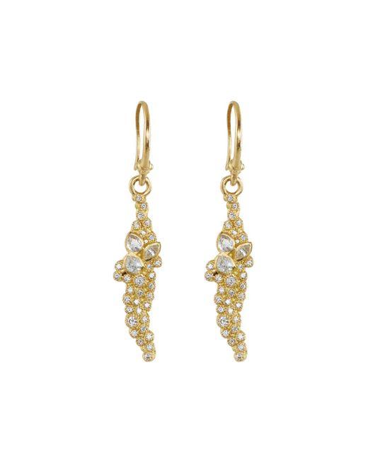 Armenta - White Sueno 18k Diamond & Sapphire Short Cluster Drop Earrings - Lyst