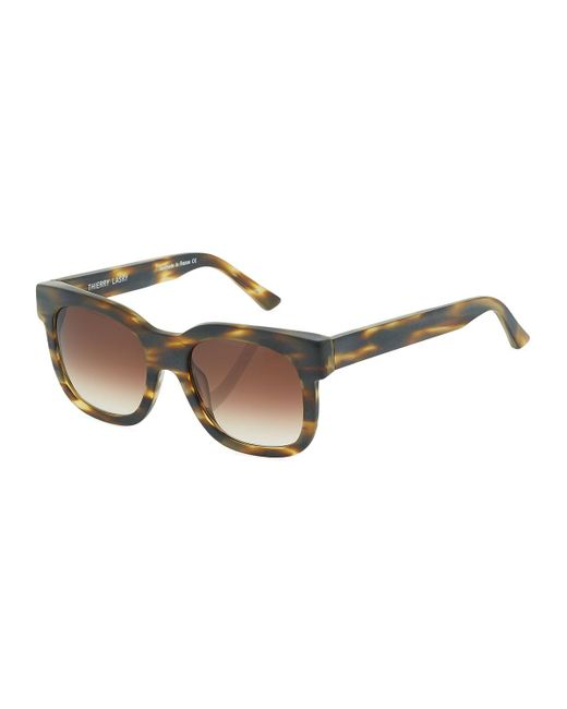 Thierry Lasry - Brown Flavory 192 Plastic Square Sunglasses - Lyst