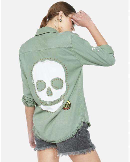 Lauren Moshi Green Sloane Stud Skull
