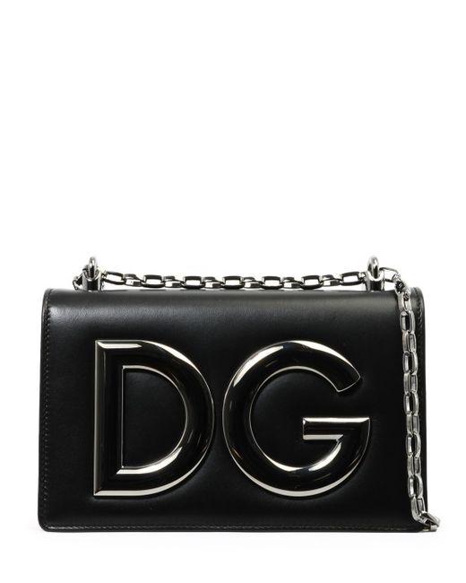 0cd274215181 Dolce   Gabbana - Black Shoulder Bag Dg Girls - Lyst ...
