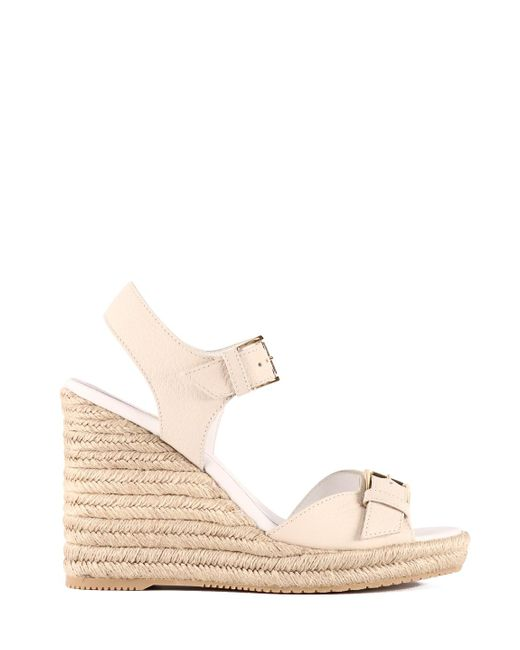 Hogan White Leather Sandal
