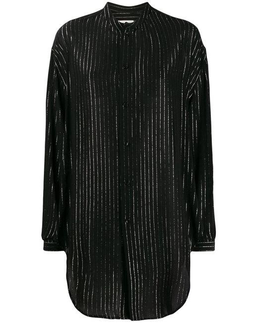 Camicia Righe Argent di Saint Laurent in Black