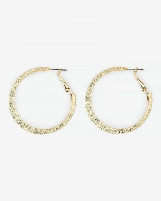 Le Chateau - Metallic Hoop Earrings - Lyst