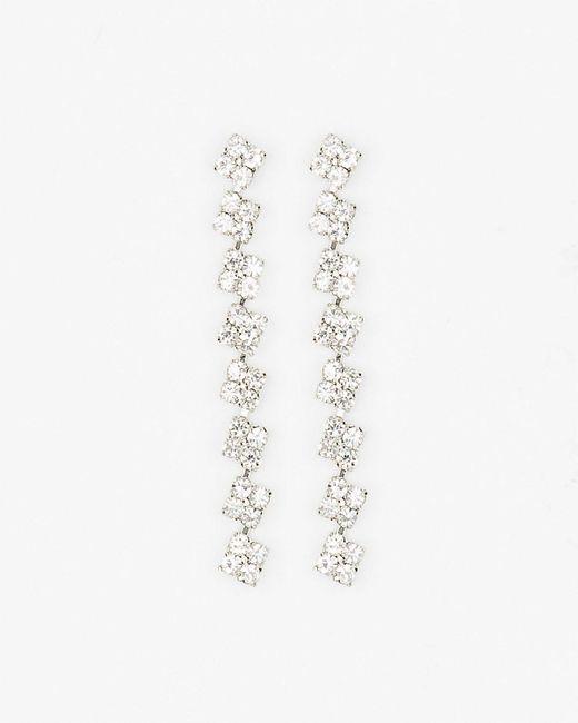 Le Chateau - Metallic Gem Linear-drop Earrings - Lyst