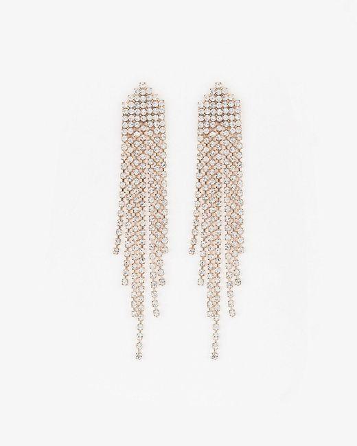 Le Chateau - Metallic Gem Duster Earrings - Lyst