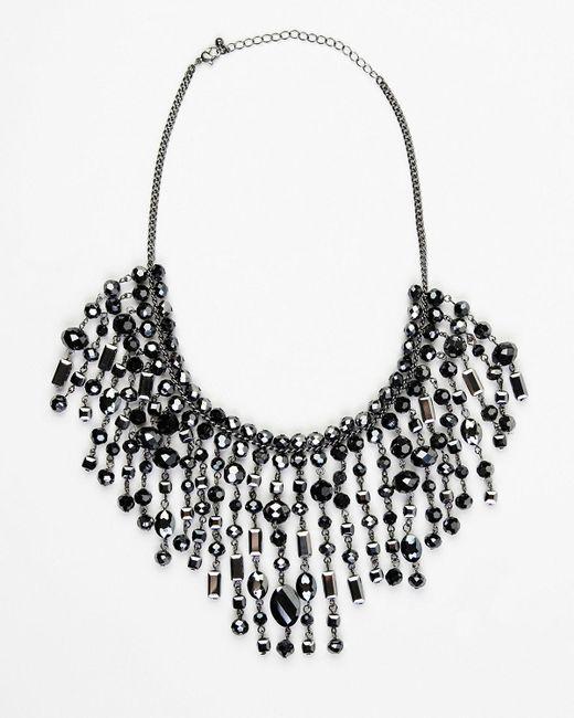Le Chateau - Gray Firepolish Gem Bib Necklace - Lyst