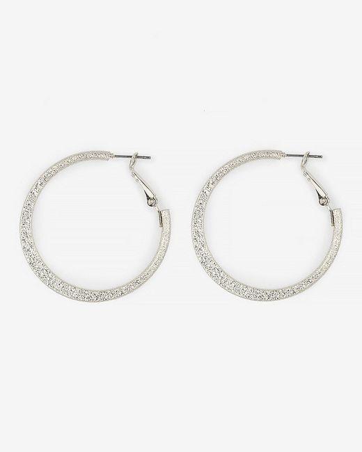 Le Chateau - Metallic Hoop Earrings - Lyst