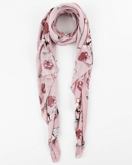 Le Chateau - Pink Floral Print Lightweight Scarf - Lyst