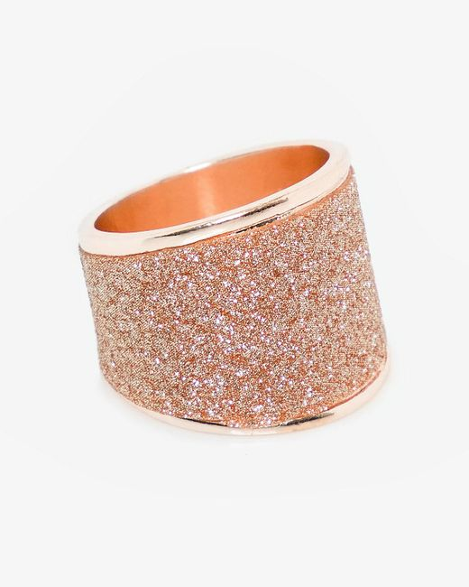 Le Chateau - Pink Glitter Ring - Lyst