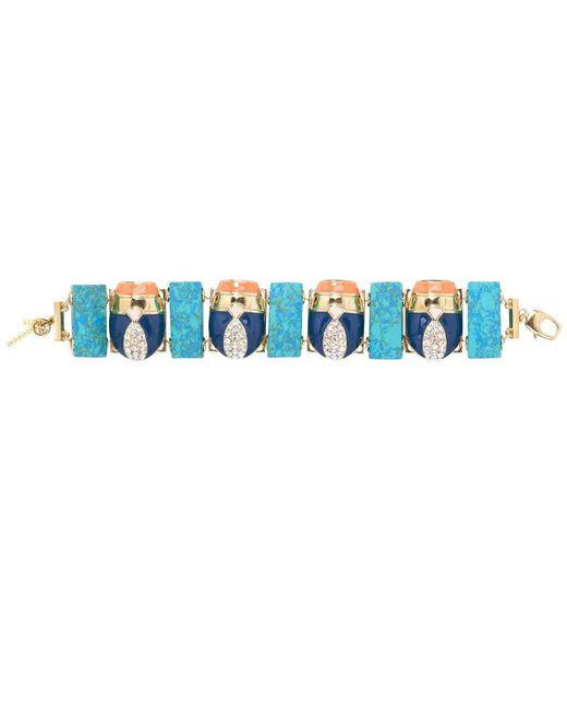 Lele Sadoughi | Blue Scarab Bracelet | Lyst