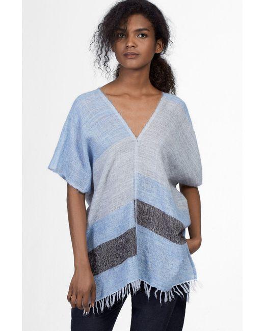 lemlem | Blue Tebiki Mohair Poncho | Lyst