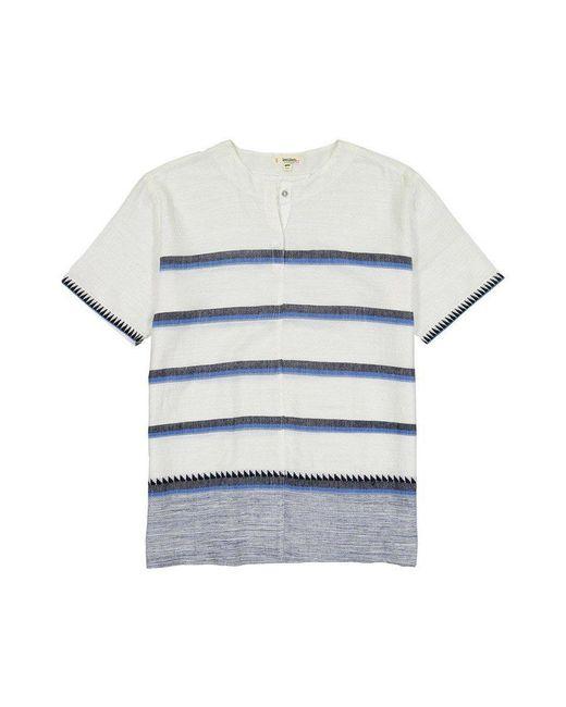 Lemlem - Blue Short Sleeve Popover for Men - Lyst