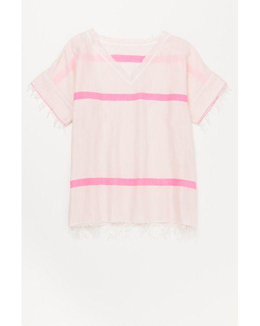 Lemlem | Pink Nadia Rustic Tee | Lyst