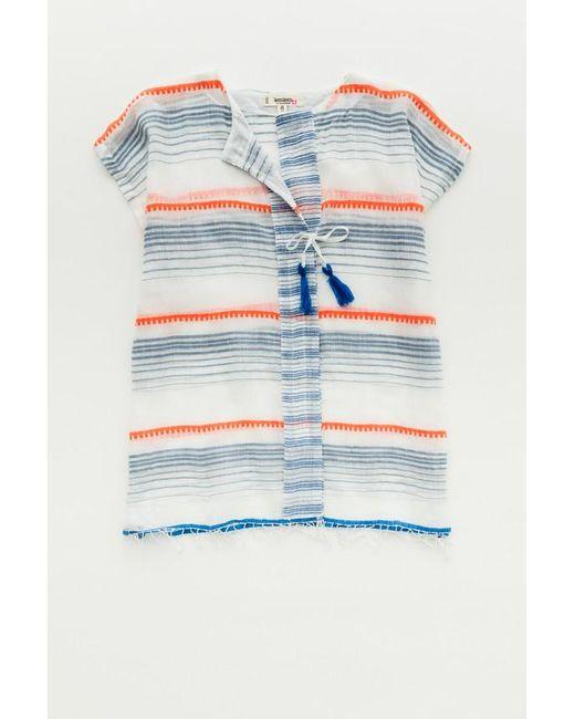 Lemlem | Blue Aden Shirt | Lyst