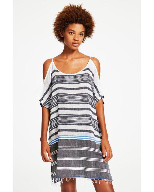 Lemlem | Blue Aziza Open Shoulder Cover-up | Lyst