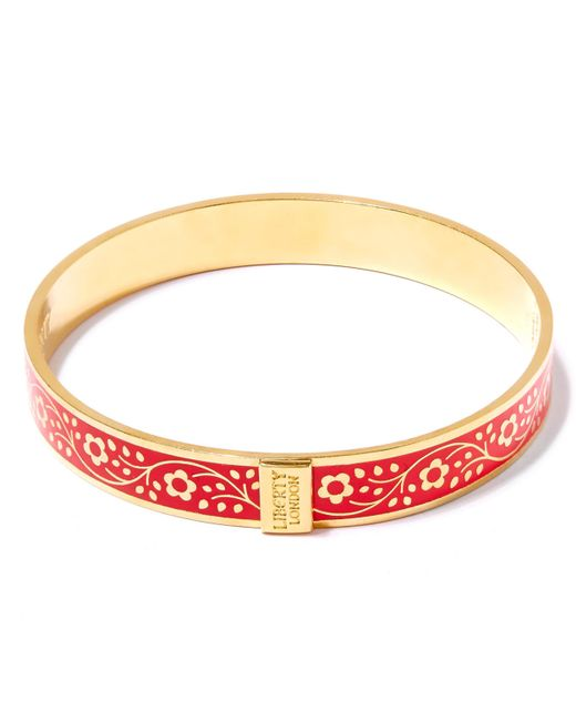 Liberty | Red Imran Enamel Thick Cuff | Lyst