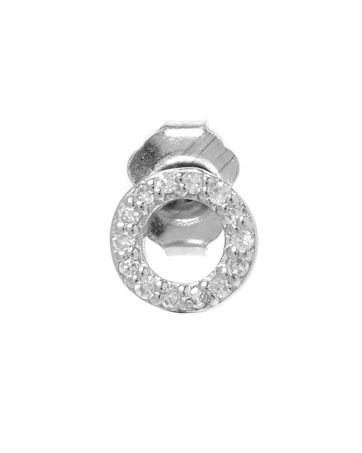 KC Designs - White Rose Gold Diamond O Single Stud Earring - Lyst