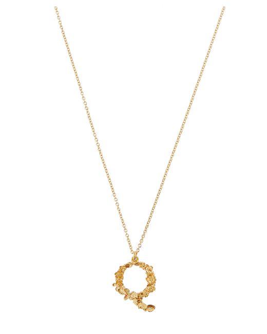 Alex Monroe - Metallic Gold-plated Floral Letter Q Alphabet Necklace - Lyst