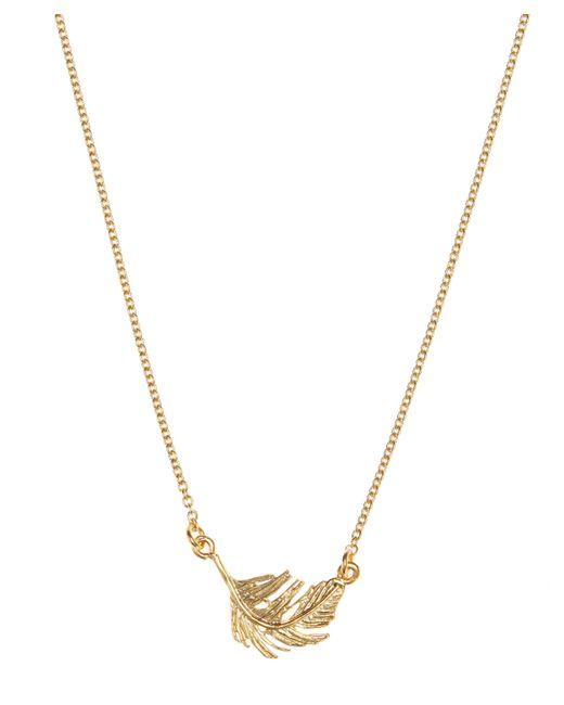 Alex Monroe - Metallic Little Feather Necklace - Lyst