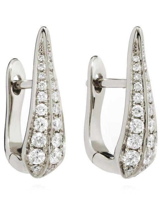 Annoushka 18ct White Gold Diamond Hoop Earrings