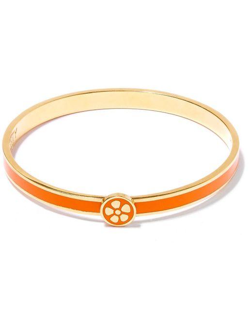 Liberty - Orange Flora Solid Thin Bangle - Lyst