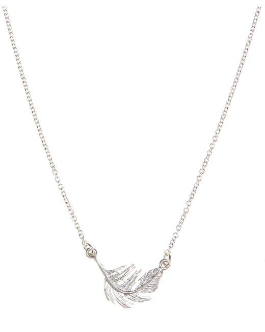 Alex Monroe Metallic Little Feather Necklace