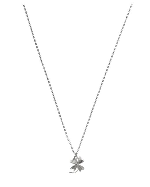 Alex Monroe | Metallic Silver Baby Lucky Clover Necklace | Lyst