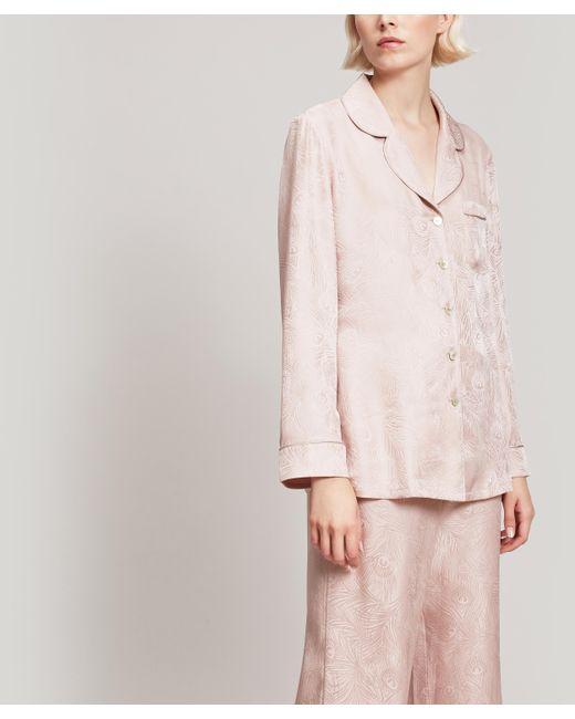 Liberty Pink Hera Silk Jacquard Long Pyjama Set