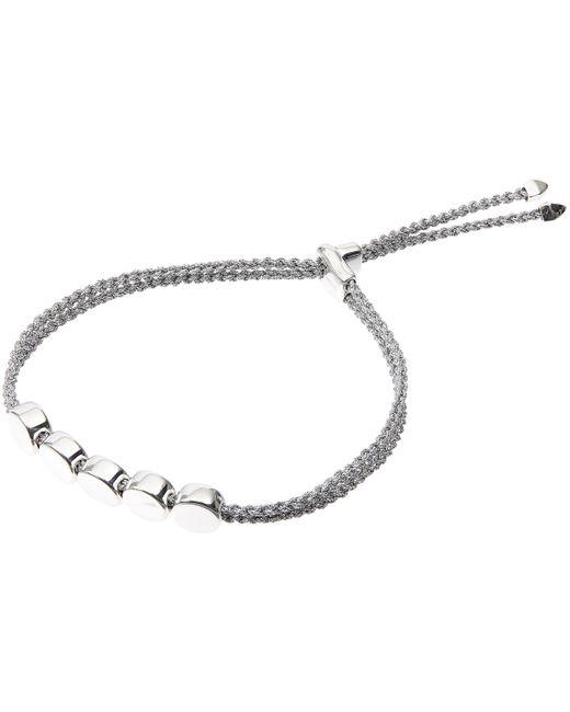 Monica Vinader - Metallic Silver Linear Bead Friendship Bracelet - Lyst