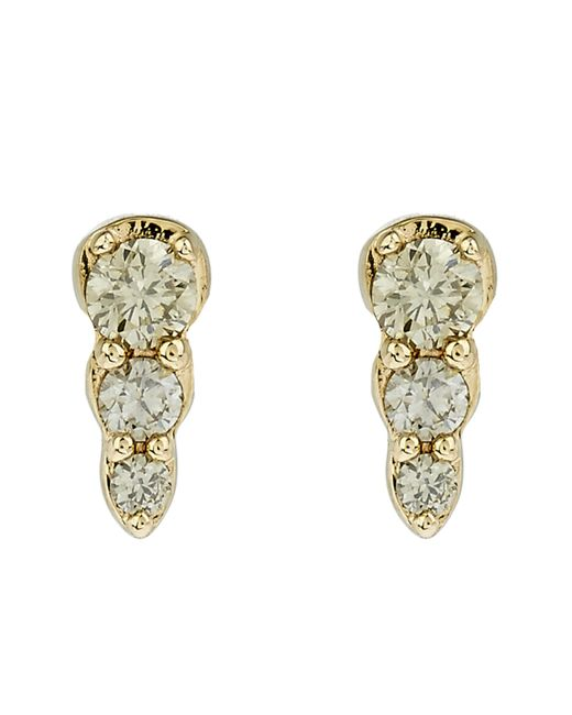 Astley Clarke | Metallic Gold Diamond Mini Interstellar Stud Earrings | Lyst