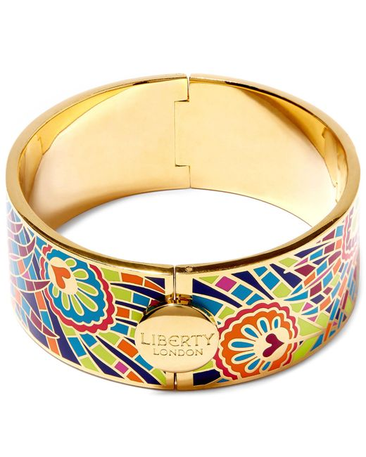 Liberty - Multicolor Hera Enamel Thick Cuff - Lyst